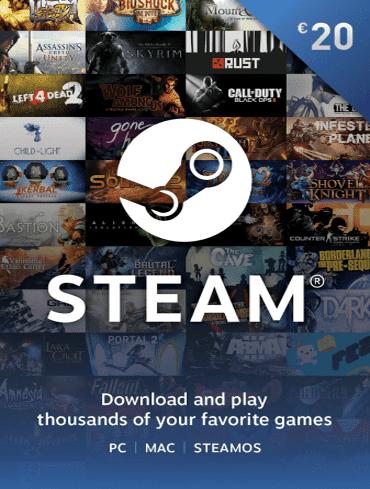 20 EUR Steam Wallet Kod