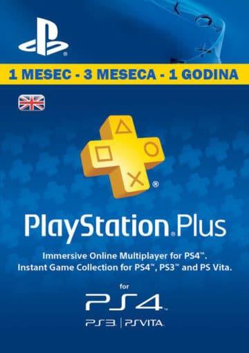 PlayStation Plus Srbija Cena Prodaja - PSN Plus pretplata za PS4 i PS3 - 1, 3 ili 12 meseci
