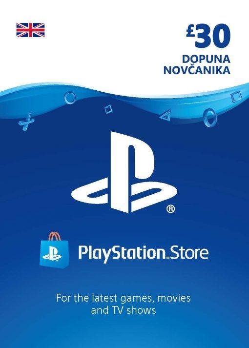 PlayStation Card 30£ UK Dopuna Kartica Kod Cena Jeftino Srbija