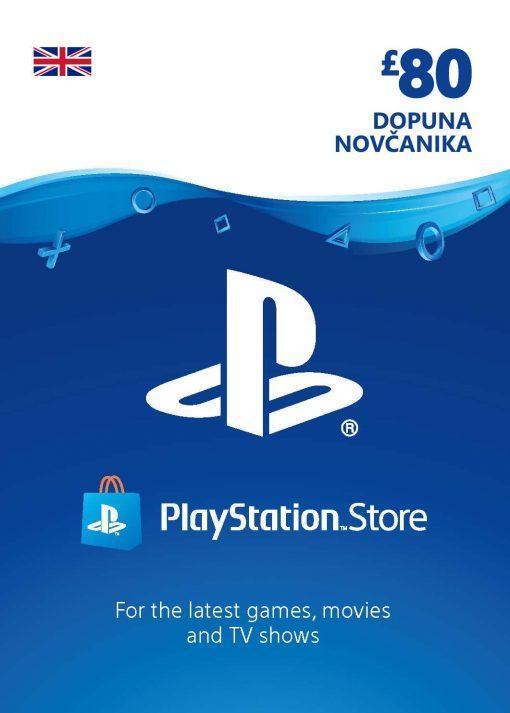 PlayStation Card 80£ UK Dopuna Kartica Kod Cena Jeftino Srbija