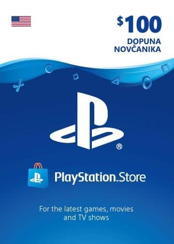 PlayStation Card 100$ 100 USD Dopuna Kartica Kod Cena Jeftino Srbija